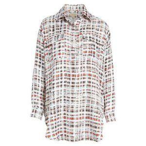 Burberry Sirena Plaid Long Sleeve Shirt